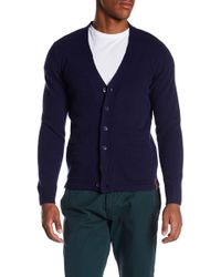 Knowledge Cotton Apparel - Solid Knit Buttoned Cardigan - Lyst