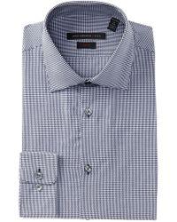 John Varvatos - Soho Mini Gingham Slim Fit Dress Shirt - Lyst