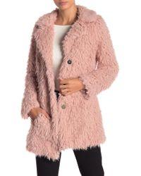Guess - Faux Fur Jacket - Lyst