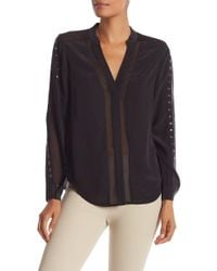 Chelsea and Walker - Metal Detailed Blouse - Lyst