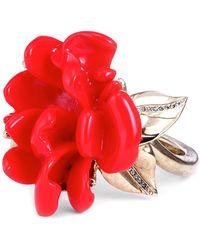 Oscar de la Renta - Resin Flower Bracelet - Lyst