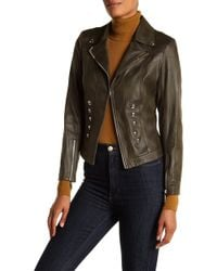 Insight - Cracked Faux Leather Military Jacket - Lyst