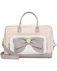 Betsey Johnson - Quilted Bow Weekend Bag - Lyst