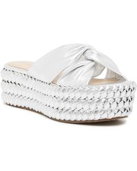 Rachel Zoe - Polly Flatform Braided Sandal - Lyst