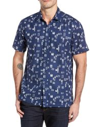Kahala - Beach Party Trim Fit Print Sport Shirt - Lyst