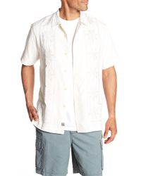 Tommy Bahama - Tangier Tiles Short Sleeve Original Fit Silk Shirt - Lyst