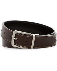 Steve Madden - Oil Tanned Reversible Leather Belt - Lyst