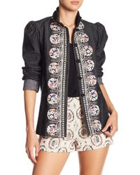 Anna Sui - Frolick In The Forest Denim Jacket - Lyst