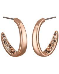 Karl Lagerfeld - Scattered Swarovski Crystal Accented 16mm Hoop Earrings - Lyst