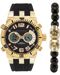 pretty nice 03f61 6b77c Sean John - Men s Digital analog Silicone Strap Watch   Bracelet Set, 45mm -