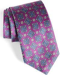 David Donahue - Medallion Silk Tie - Lyst
