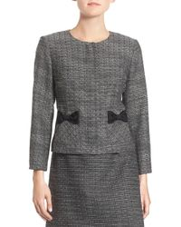 Cece by Cynthia Steffe - Bow Trim Tweed Suit Jacket - Lyst