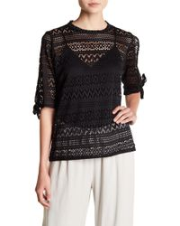 C&C California | Perry Netted Tie-sleeve Pullover | Lyst