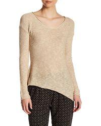 Dex - Asymmetric Knit Sweater - Lyst