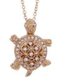 Nadri - Crystal Pave Turtle Pendant Necklace - Lyst