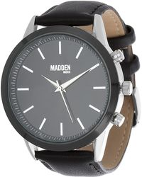Steve Madden - Men's Leather & Alloy 44mm Watch - Lyst