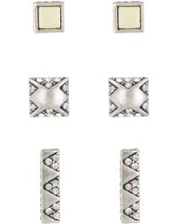 House of Harlow 1960 - Plateau Stud Earrings - Set Of 3 - Lyst