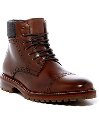 Johnston & Murphy - Karnes Brogue Cap Toe Boot - Lyst