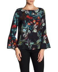 Karen Kane - Bell Sleeve Floral Top - Lyst