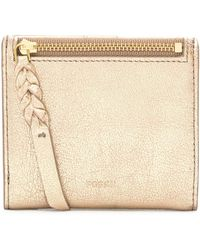 Fossil - Metallic Leather Card Wallet - Lyst