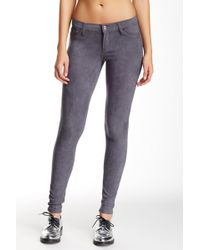 Tractr - Faux Suede Five Pocket Basic Skinny Pants - Lyst