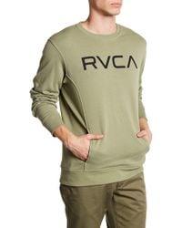RVCA - Logo Crew Neck Pocket Sweatshirt - Lyst
