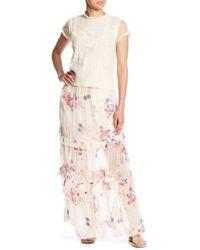 Love Sam - Kari Beth Floral Print Midi Skirt - Lyst
