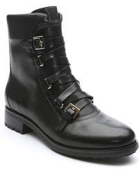 Tahari - Jude Leather Combat Boot - Lyst