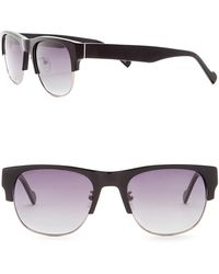 William Rast - Men's 53mm Polarized Clubmaster Sunglasses - Lyst