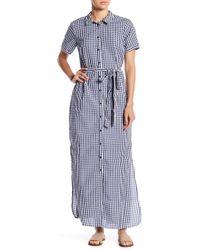 Sanctuary - Blue Dawn Shirt Maxi Dress - Lyst