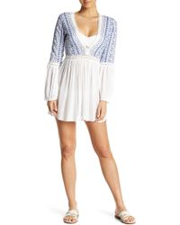 Guadalupe Design - Malaia V-neck Cover Up - Lyst