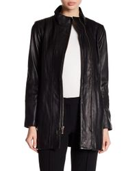 Cole Haan - Smooth Leather Car Coat - Lyst