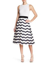 MILLY | Inverted Pleat Skirt | Lyst