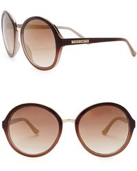 Vince Camuto - 59mm Round Bridge Sunglasses - Lyst