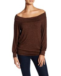 Riller & Fount - Cybil Long Sleeve Off-the-shoulder Shirt - Lyst