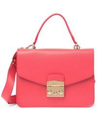Furla - Metropolis Top Handle Leather Shoulder Bag - Lyst
