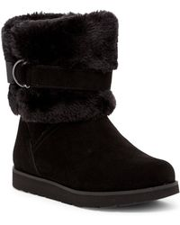 Lands' End - Plush Faux Fur Lined Short Boot - Lyst