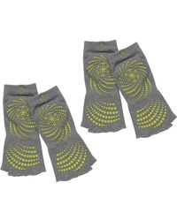 Gaiam - Toeless Grippy Yoga Socks - Pack Of 2 - Lyst