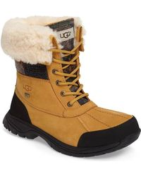 UGG - Waterproof Pure(tm) Wool Lined Butte Patchwork Boot - Lyst