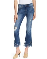 William Rast | Finge Cropped Flare Jeans | Lyst