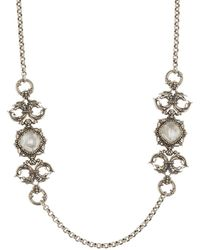 Konstantino - Sterling Silver Mother Of Pearl Frontal Necklace - Lyst