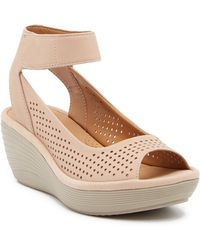 Clarks - Reedly Salene Wedge Sandals - Lyst
