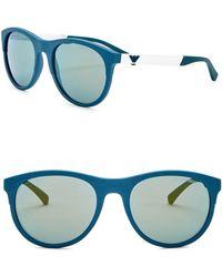 Emporio Armani - 56mm Wayfarer Acetate Frame Sunglasses - Lyst