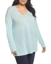 Sejour   Easy V-neck Wool & Cashmere Pullover   Lyst