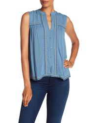 Lucky Brand - Lucky Embroidered Tank Top - Lyst