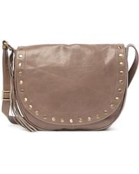 Hobo - Maverick Studded Leather Saddle Bag - Lyst