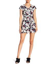 Haute Rogue - Floral Short Dress - Lyst