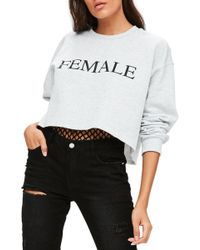 Missguided - Female Sweatshirt - Lyst