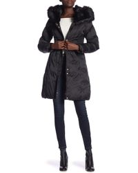Via Spiga - Faux Fur Trimmed Hooded Jacket - Lyst