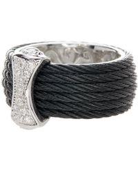 Alor - 18k White Gold Diamond Detail Multi Strand Ring - 0.12 Ctw - Lyst